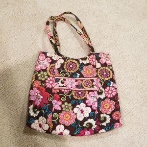 Vera Bradley Tote Retired Mod Floral Pink Pattern